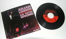 Julian Lennon 45 Picture Sleeve..Say You'Re Wrong / Big Mama