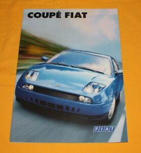 Fiat Coupe 1997 Prospekt Brochure Catalog Depliant Prospetto Broschyr Folder