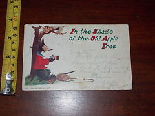 POSTCARD OLD IN THE SHADE OF THE OLD APPLE TREE 1906 M. S. P. WOLF