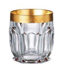 Bohemia Crystal - Safari Gold Old Fashion Tumbler 8.5 oz. Set of 6