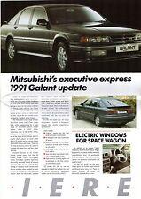 Mitsubishi 1990-91 UK Market Sales Brochure Colt Lancer Galant 3000GT Shogun