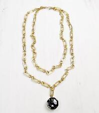La Vie Parisienne Catherine Popesco Double Layer Necklace Large Crystal Pendant