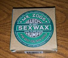 New listing Mr. Zogs Sex Wax Quick Humps 2X Eco Surf Wax Cool to Mid Warm New