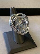 Jeff Lieb Adjustable Swarovski Crystal Ring