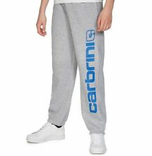 Carbrini Kids Marl Grey Blue Crew Fleece Track Pants