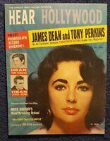 Elizabeth Taylor on cover:  Hear Hollywood, September 1957 magazine (no label)