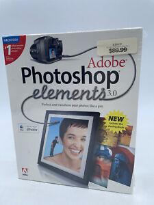 Adobe Photoshop Elements 3.0 (Mac) NEW SEALED!