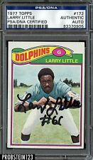 1977 Topps Football #172 Larry Little Signed AUTO PSA/DNA AUTHENTIC STOCK PHOTO
