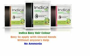Indica Easy Herbal Hair Color Cream Natural Black, Brown & Burgundy Henna