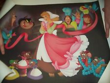 """Disney """" A Lovely Dress for Cinderelly"""" Cinderella Limited Edition Lithograph"""