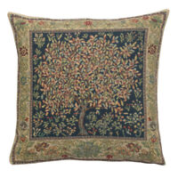 Tree of Life Pastel William Morris Belgian Woven Tapestry Cushion Cover NEW
