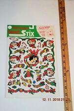 Walt Disney Snow White & 7 Dwarfs Christmas window door stickers- NOS free ship