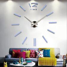 3d Stickers BLANC Grand Horloge Montre Murale Acryliques A2 - 120 cm