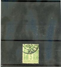 ALGERIA , FORERUNNER, (YT 102)F-VF1898 5c YELLOW GREEN, 1899 CDS ------