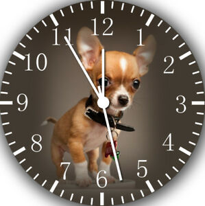 Cute Chihuahua Dog Frameless Borderless Wall Clock For Gifts or Home Decor E412
