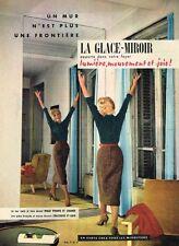 F- Publicité Advertising 1958 Glace Miroir en vente chez tous les miroitiers