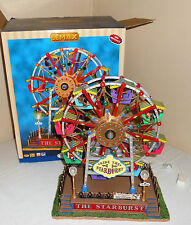 Lemax THE STARBURST Carole Towne Musical Animated Christmas Ferris Wheel w Box