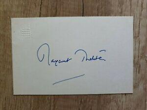 Margaret Thatcher (verstorben), Ex-Premiermin. GB  - Handsign. Karte (Original)