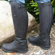 Mark Todd Fleece Lined Tall Winter Boots Black Wide Calf EU37/UK4 RRP £129.99