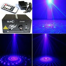 SUNY 3 Lens 24 Patterns  Laser Projector GB LED Disco Show Stage Lighting USA