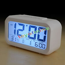 LCD Digital LED Projector Proyección Alarm Clock Snooze Weather Station Calendar
