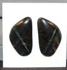 Blue Tiger's Eye 25x14.5mm with 3.5mm dome Cabochons Set of 2  (11510)