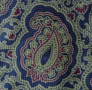 Blue Green Maroon FERRE Silk Tie
