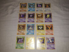 Pokemon Japanese Mystery of Fossil Set 16 Holo Card COMPLETE Lot LP-HP Mew