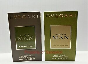 Bvlgari Man Wood Essence & Bvlgari Man Wood Neroli Sample Spray 2 x 1.5 ml