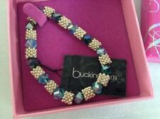 "DEBENHAMS "" BUCKINGHAM"" BLUE STONE EXPANDABLE BRACELET - BOXED"