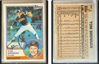 Tom Brennan Signed 1983 Topps #524 Card Cleveland Indians Auto Autograph