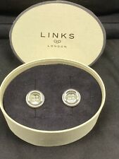 Links of London 100% genuine sterling silver button design cufflinks