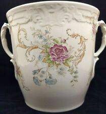 EXTRALARGE Jar ANTIQUE Vase JARDINIERE Floral GILT HANDLES Biscuit VICTORIAN Urn