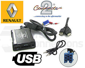 Renault Scenic USB Adattatore CTARNUSB003 Auto Aux SD Ingresso MP3 Jack pre09