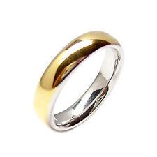 3e024505beb5 Anillos novia para boda de oro bicolor 18 kt. modelo cómoda par 2 piezas