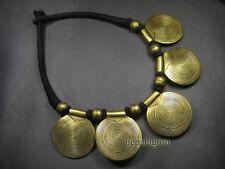 N636 Ethnic TIBET Tribal Choker pendant Brass Tone FASHION NECKLACE Jewelry
