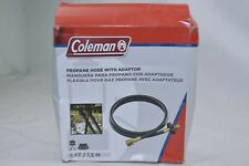 COLEMAN Propane Hose with Adaptor 5 ft 1.5 m Black