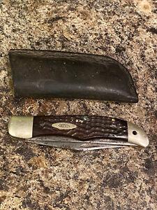 Case 6265 SAB SS Folding Hunter Pocket Knife - 2 Dot