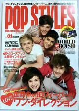 USED POP STYLES Japan Music Magazine Includes One Direction Poster 2013