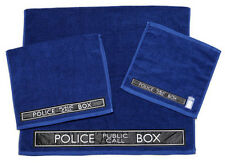 *NEW* Dr Doctor Who - Blue TARDIS 3 Piece Towel Towels Set