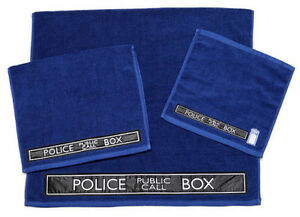 NEW Dr Doctor Who - Blue TARDIS 3 Piece Towel Towels Set