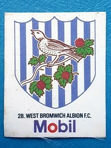 Mobil Football Club Badges Silk 1983 West Bromwich Albion