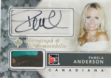 Pamela Anderson 2011 In the Game Canadiana autograph auto card AM-PA1