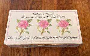 Vintage Crabtree & Evelyn Rosewater With Cold Cream 3/pack Triple Milled Soaps