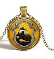 Movie Harry Potter Time Gem Photo Cabochon Pendant Vintage Chain Necklace CA1