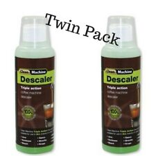 Coffee Machine Cleaner Saeco Descaler 250mls x 2Bottles Delonghi Nespresso Jura