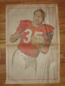 RARE 70s JIM NANCE Boston Patriots BOSTON TRAVELER Newspaper Pin-Up Poster