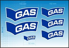 NEW Oversize GAS BLUE JEANS decals stickers RACE BIKE HONDA CBR VTR VFR REPSOL