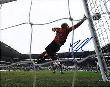 Brad Guzan Signed 8x10 w AWESOME PROOF Aston Villa USA Soccer USMNT