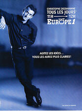 PUBLICITE ADVERTISING  1997   EUROPE  1 radio   CHRISTOPHE DECHAVANNE